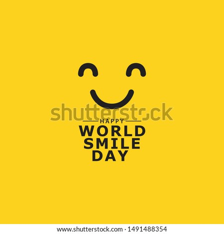 World smile day design template Royalty-Free Stock Photo #1491488354