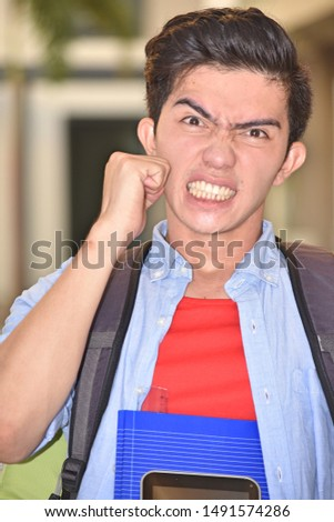College Diverse Student And Anger #1491574286