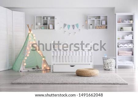 Interior of modern children's room #1491662048