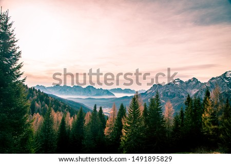 Fall is coming in the italian alps #1491895829