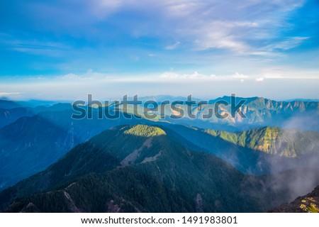 The Highest Mountain on Taiwan Island - Mt.Jade Mountain Landscape #1491983801