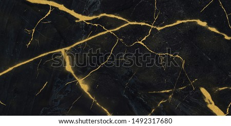black marble with golden veins, Emperador Black marbel natural pattern for background, abstract black white and gold, black and yellow marble, , Yellow glittering stone walls texture background. #1492317680