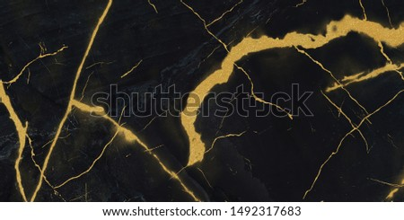 black marble with golden veins ,Black marbel natural pattern for background, abstract black white and gold, black and yellow marble, , Yellow glittering marbel stone walls texture background. #1492317683