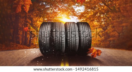 autumn - time to change tires on winter tires #1492416815