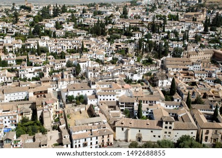 Views of Granada from the Alhambra, Spain #1492688855