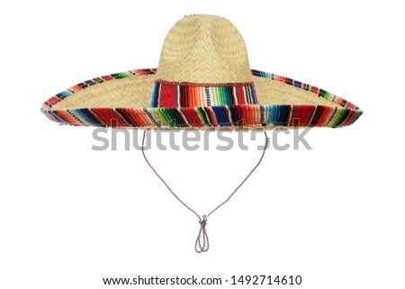 Mexican Sombrero isolated on a white background. #1492714610