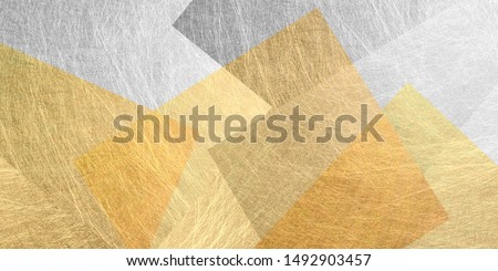 Geometric warm color background material (gold and silver)  #1492903457