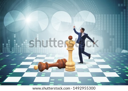 Strategy and tactics concept with businessman #1492955300