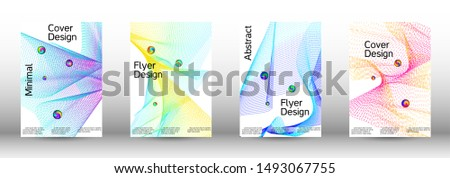 Minimum coverage of a vector. Cover design. Set of modern abstract musical backgrounds. Sound flyer for creating a fashionable  cover, banner, poster, booklet. #1493067755