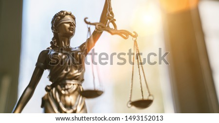 The Statue of Justice - lady justice or Iustitia / Justitia the Roman goddess of Justice #1493152013