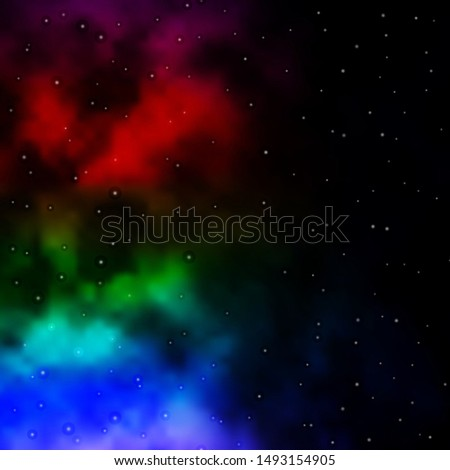 Dark Multicolor vector pattern with abstract stars. Colorful illustration in abstract style with gradient stars. Pattern for websites, landing pages. #1493154905