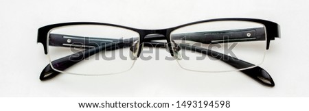 The eyeglasses for nerd student on white background. #1493194598