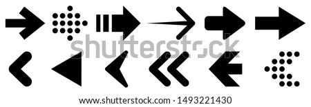 Set arrow icon. Collection different arrows sign. Black vector arrows – vector #1493221430