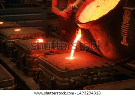Casting, melting, molding and foundry. The most widely used non reusable mold method is sand casting a process in which specially treated sand is rammed around the pattern and placed in a support. #1493294318