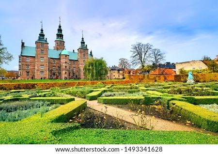 Rosenborg castle and its gardens during autumn, Copenhagen, Denmark #1493341628
