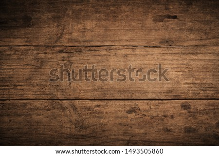 Old grunge dark textured wooden background,The surface of the old brown wood texture,top view brown teak wood paneling #1493505860