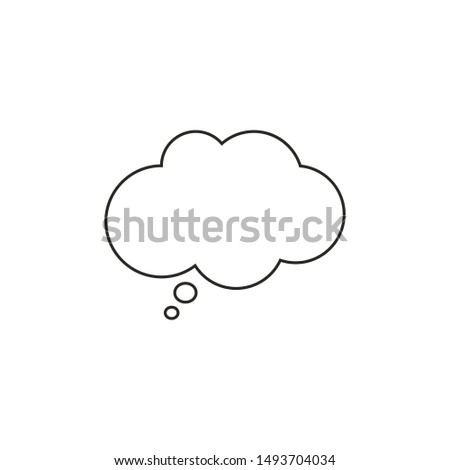 Think Speech Bubble line icon, outline isolated sign. #1493704034