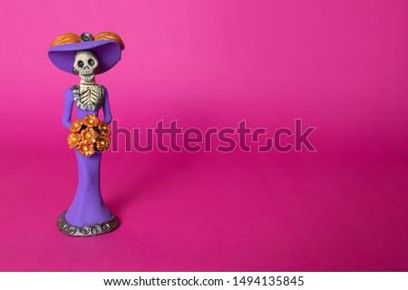 La Calavera Catrina doll for Dia de los Muertos Mexican holiday #1494135845