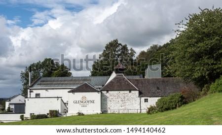 DUMGOYNE, SCOTLAND, UK. 1st September, 2019. Glengoyne Distillery is a whisky distillery founded in 1833 at Dumgoyne, north of Glasgow, Scotland. #1494140462