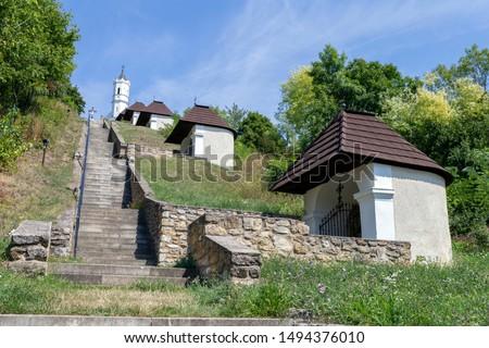 Calvary hill in Magyarpolany, Hungary. #1494376010