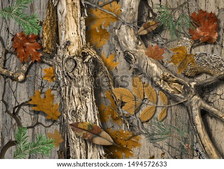 Real Tree Camouflage for hunting shirt #1494572633