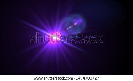 Purple light glow lense flare Royalty-Free Stock Photo #1494700727