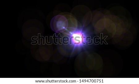 Purple light glow lense flare Royalty-Free Stock Photo #1494700751