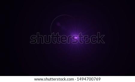 Purple light glow lense flare Royalty-Free Stock Photo #1494700769