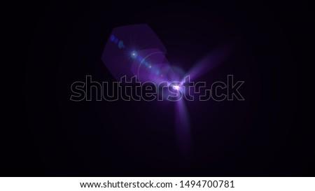 Purple light glow lense flare Royalty-Free Stock Photo #1494700781