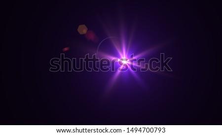 Purple light glow lense flare Royalty-Free Stock Photo #1494700793