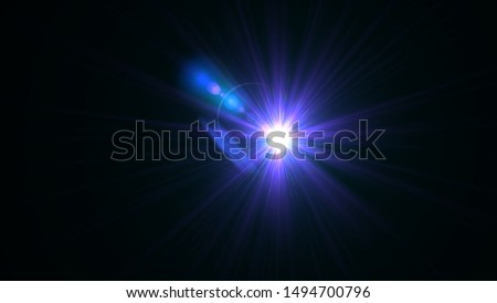 Purple light glow lense flare Royalty-Free Stock Photo #1494700796