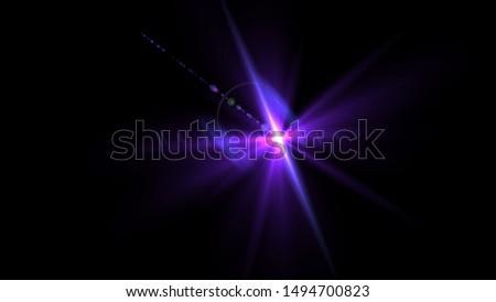 Purple light glow lense flare Royalty-Free Stock Photo #1494700823