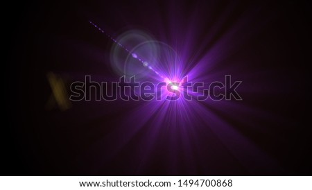 Purple light glow lense flare Royalty-Free Stock Photo #1494700868