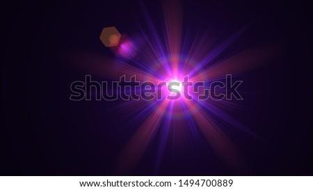 Purple light glow lense flare Royalty-Free Stock Photo #1494700889