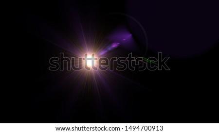 Purple light glow lense flare Royalty-Free Stock Photo #1494700913