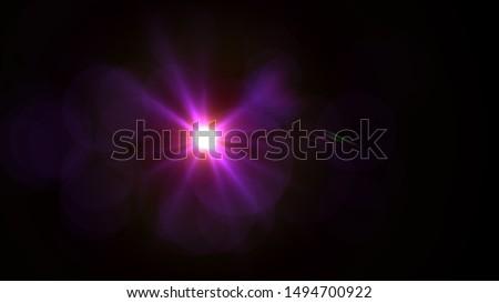 Purple light glow lense flare Royalty-Free Stock Photo #1494700922