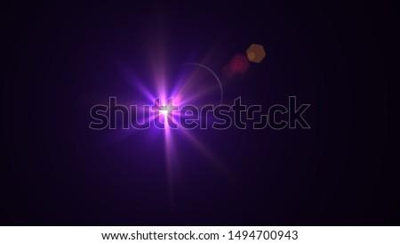 Purple light glow lense flare Royalty-Free Stock Photo #1494700943