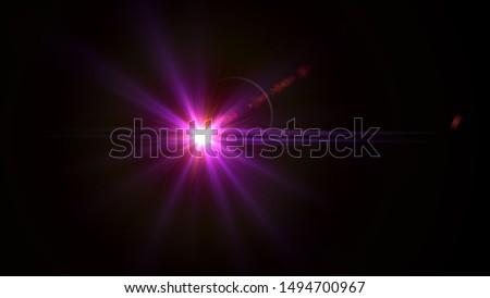 Purple light glow lense flare Royalty-Free Stock Photo #1494700967