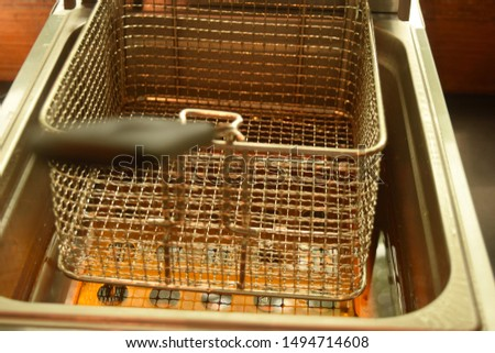 this pic show the Sieve in fried pot at smart kitchen