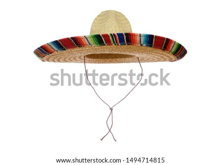 Mexican Sombrero isolated on a white background. #1494714815