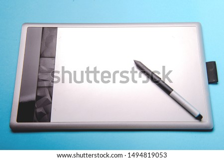 Graphic tablet with pen for illustrators and designers #1494819053