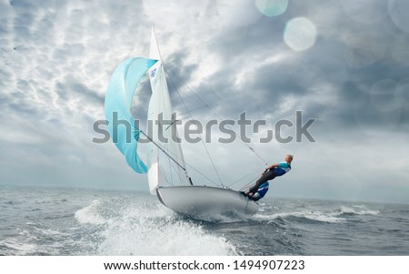 Sailing yacht race. Yachting. Sailing regatta.  #1494907223