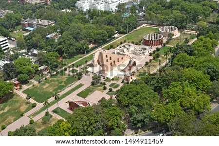 Arial View of Jantar Mantar New Delhi India