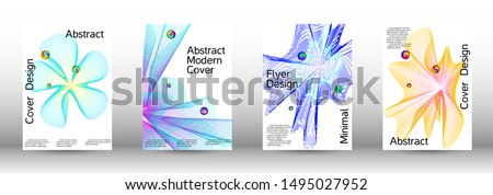 Minimum coverage of the vector. Cover design. A set of modern abstract covers. Minimal vector cover design with abstract lines. #1495027952