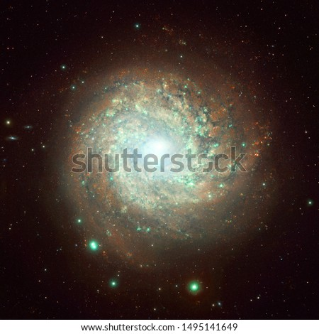 Endless universe. Incredibly beautiful science fiction wallpaper. Elements of this image furnished by NASA.