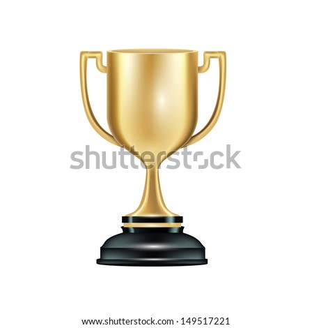 golden trophy isolated on white background #149517221