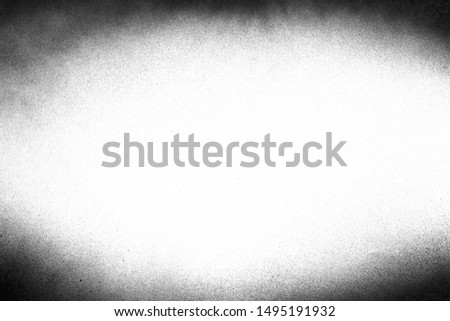 Vintage black and white noise texture. Abstract splattered background for vignette. #1495191932
