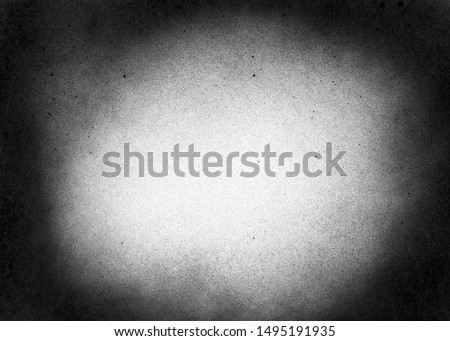 Vintage black and white noise texture. Abstract splattered background for vignette. #1495191935