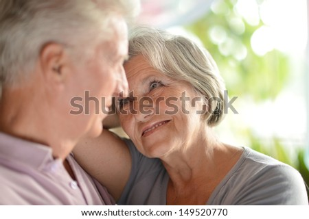 loving elderly couple spending time together at home #149520770