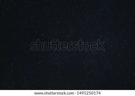 Blueish Night sky. View of the stars during a dark night. Blue-Toned sky. #1495250174